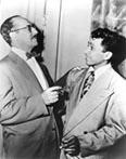 Pedro Gonzalez-Gonzalez with Groucho Marx on the Marx TV show You Best Your Life