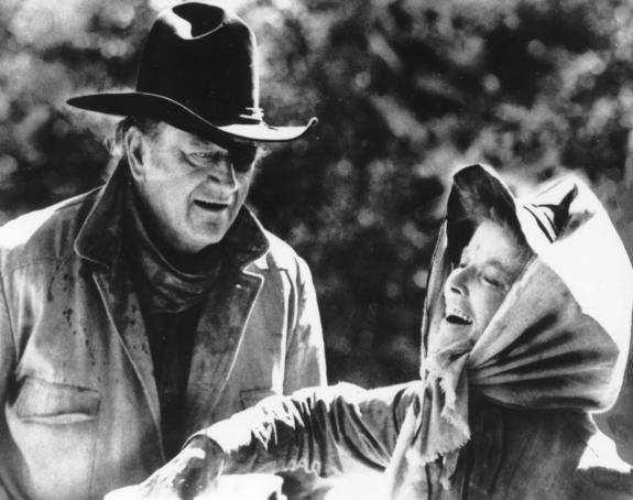 John Wayne, Katharine Hepburn
